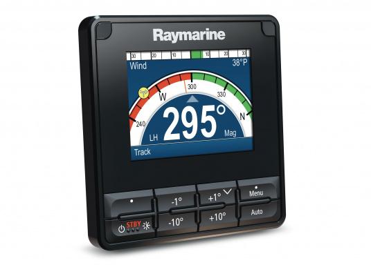 """Die Raymarine Autopilot-Bedieneinheit p70s ist eine Bedieneinheit mit Drucktastenbetrieb, die hauptsächlich für Segelboote konzipiert wurde."""""""