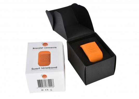 Bei dem MOB-Armband von SEATAGS handelt es sich um einen MOB-Sender, der perBluetoothmit einem kompatiblen Smartphone oder Tablet (Android oder iOS)verbunden wird. Dazu muss lediglich die kostenlose App auf dem jeweiligen Gerät installiert werden. (Bild 4 of 12)