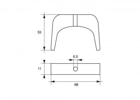 Passende Motor-Zinkanode für SELVA-Motoren mit 100 PS. Original Teilenummer: 2504025. (Bild 2 of 2)