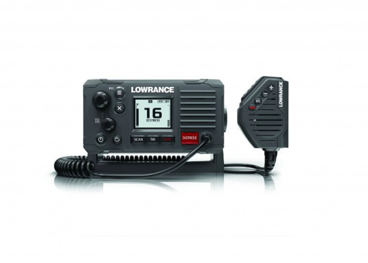 """Communicate clearly with this dependable Class D DSC Approved marine VHF radio featuring a four-button fist microphone, intuitive rotary and keypad controls and a new front-mountable mechanical design for easy installation."""""""