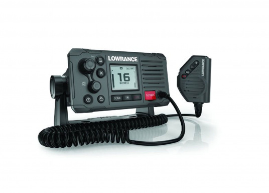 Communicate clearly with this dependable Class D DSC Approved marine VHF radio featuring a four-button fist microphone, intuitive rotary and keypad controls and a new front-mountable mechanical design for easy installation. (Image 2 of 2)