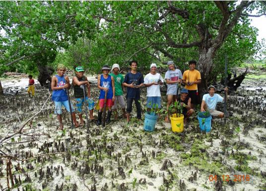 SVB hat das Aufforsten in sein Programm aufgenommen und sich als Partner die MAMA EARTH Foundation ausgewählt, welche bereits über eine Million Mangroven im Golf von Davao/Philippinen gepflanzt hat. (Bild 23 von 27)