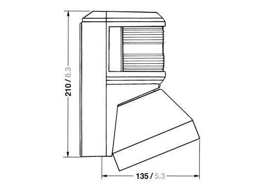 Eine bewährte Kombination von Aqua Signal.Einfache Montage an jedem Mastprofil durch seitlich flexible Befestigungslaschen. Zulassung für Fahrzeuge unter 20 m Länge.  (Bild 2 von 2)