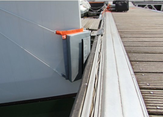 The seaEQ bow fender optimally protects the bow of your yacht from damage. (Image 3 of 3)