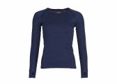 Image of Ladies shirt MERINO / navy blue