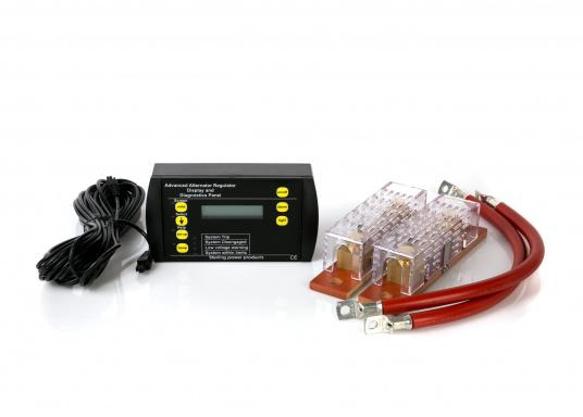 """Remote control for alternator-to-battery charger with all of the important parameters of the charger displayed."""""""