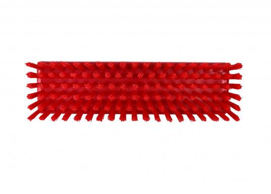 <div>Brosse de pont dure sans passage d'eau pour les manches de lave-pont (prise et vis de maintien). Coloris : rouge.</div>  (Image 2 de 2)