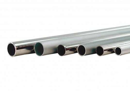 """Hier bieten wir Ihnen stabile Rohre aus Edelstahl an. Die Rohre sind biegefähig und in einer maximalen Länge von 6 m erhältlich. Preis per Meter."""""""