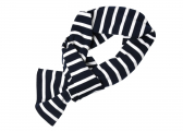 Immagine di  Sciarpa in stile Breton / bianco-blu