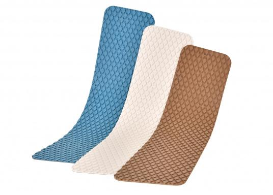 Non-slip pads made of high-quality rubber / cork composite material. The pads are supplied with the same structure as the TREADMASTER plates and are providedwith a self-adhesive coatingon the back. Available in the following colors: blue, brown and white, each in different sizes. Package Contents: 2 pads.  (Image 7 of 21)
