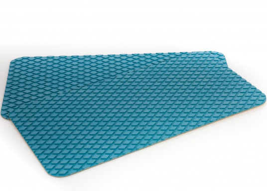 Non-slip pads made of high-quality rubber / cork composite material. The pads are supplied with the same structure as the TREADMASTER plates and are providedwith a self-adhesive coatingon the back. Available in the following colors: blue, brown and white, each in different sizes. Package Contents: 2 pads.  (Image 17 of 21)