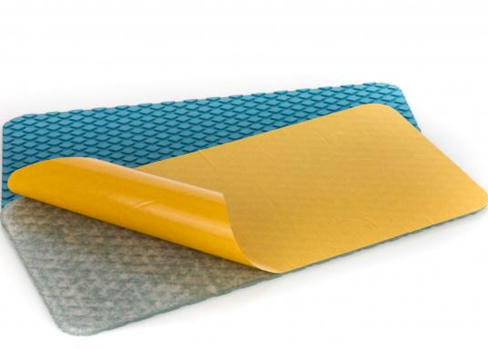 Non-slip pads made of high-quality rubber / cork composite material. The pads are supplied with the same structure as the TREADMASTER plates and are providedwith a self-adhesive coatingon the back. Available in the following colors: blue, brown and white, each in different sizes. Package Contents: 2 pads.  (Image 18 of 21)