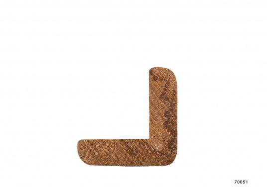 """Precision-milled and sanded 90° corner profiles made of fine teak. Length: 2 m."""""""